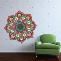 Full Color Wall Decal Mandala Model Map Ornament Star Buddha Yoga Flower Mcol33