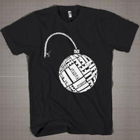 Bomb Typography  Mens and Women T-Shirt Available Color Black And White