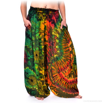 Tie Dye Harem Pants Assorted on Sale for $39.95 at The Hippie Shop