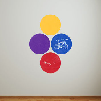 Writable wall decal - Simple Circles Chalkboard 2