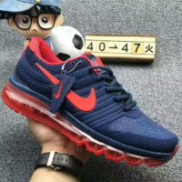 """""""NIKE"""" Fashion Women and man Running Sport Casual Shoes mesh Sneakers Blue red hook"""