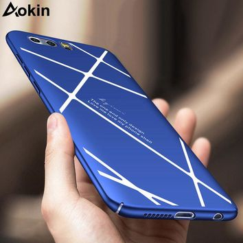 Aokin Luxury Ultra Thin Matte Hard PC Cover For Huawei Honor 9 Case Line Geometric Design Phone Coque For iPhone 6 7 Plus Fundas