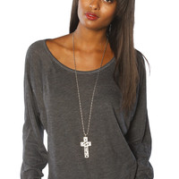 Women's Garment Dye Raglan Top