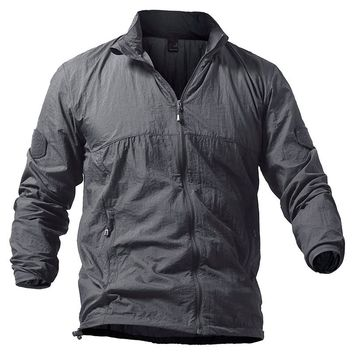 Lightweight Tactical Skin Jacket Men Summer Breathable Portable Waterproof Jacket Military Army Thin Jackets S-5XL Plus Size