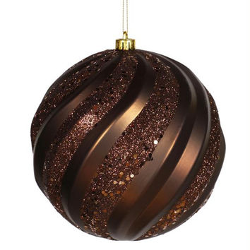"Christmas Ball Ornament - 6 ""  - Chocolate"