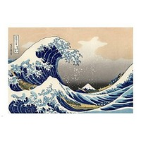 THE GREAT WAVE at Kanagawa POSTER 24X36 Katsushika Hokusai 1829 JAPAN rare