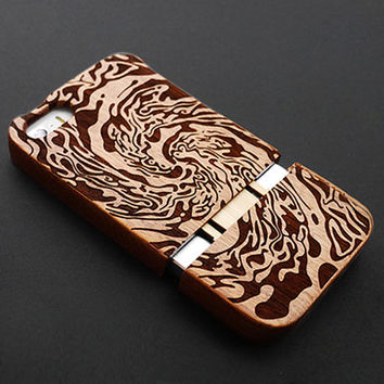 Vortex Sapele Wood iPhone 5s Case - Real Wood iPhone 5 Case - Custom iPhone 5s Case Wood - Wooden iPhone 5 Case - Case iPhone 5s 5 - Gift