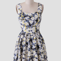 Tuscany Villa Floral Dress