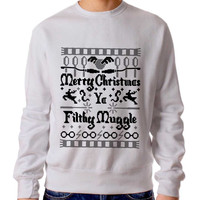 Merry Christmas Ya Filthy Muggle Funny Harry Potter Sweater Man And Sweater Woman