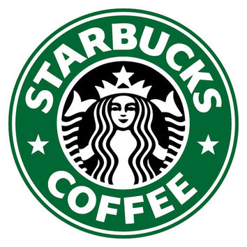 ID: SP00021; Starbucks Coffee LOGO with Surrounding Letter Vinyl Decal, No White Background, Sticker, Pack of 2/3/4