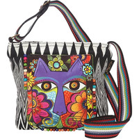 Laurel Burch Blossoming Feline Crossbody