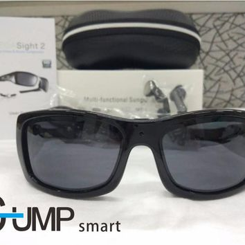 Mini smart sunglasses headset Polaried smart Sport Camera 720HD Digital and MP3 stereo