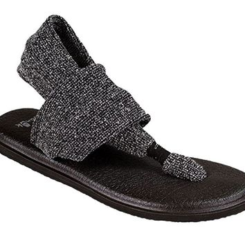 Sanuk Yoga Sling 2 Knitster Black Sandals