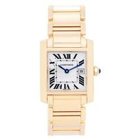 Cartier Yellow Gold Tank Francaise Midsize Quartz Wristwatch