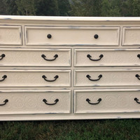 Refinished Dresser/Changing Table in Annie Sloan Chalk Paint Painted Bedroom Furniture Chest of Drawers