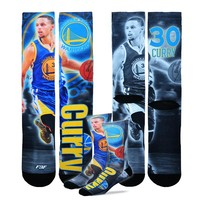 For Bare Feet Golden State Warriors Stephen Curry Drive Crew Socks - Men, Size: L (War Team)