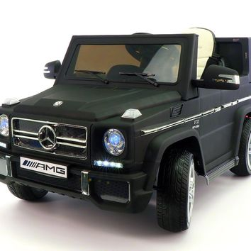 Mercedes G65 AMG 12V Kids Ride-On Car with Parental Remote | Matt Black