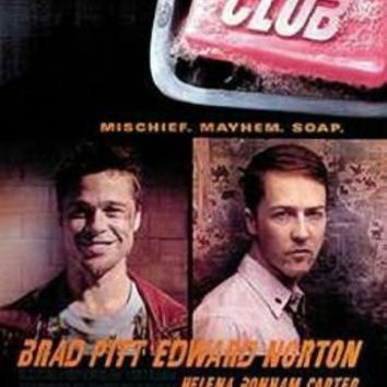 Fight Club (Brad Pitt Edward Norton) Rules Movie Poster