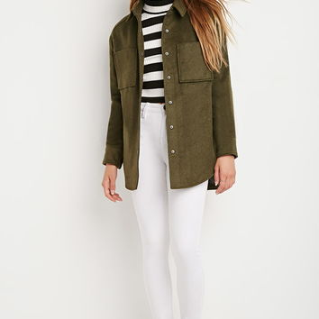 Boxy Quilted Overcoat | Forever 21 - 2000203959