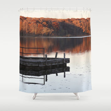 Shower Curtain - November Reflections - Nature Decor - Rustic Decor - Woodland Decor - Farmhouse Chic - Cabin Decor - Cottage Chic