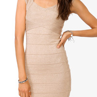 Metallic Bandage Bodycon Dress