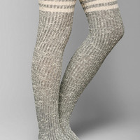 Marled Varsity Stripe Over-The-Knee Sock - Urban Outfitters