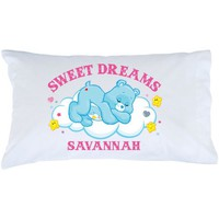 Personalized Care Bears Pillowcase - Sweet Dreams Bedtime Bear - Walmart.com