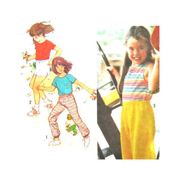 Uncut Girls Shirt Shorts Pants Sewing Pattern Vintage Simplicity 9404  Play Clothes