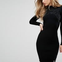 Lipsy Lace Sweater Dress at asos.com