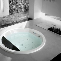 Whirlpool built-in bathtub NAOS by TEUCO GUZZINI | design Talocci Design