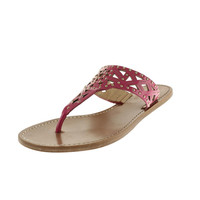 BELLE by Sigerson Morrison Womens Riko Studded T-Strap Sandals