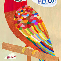 Hello Parrot | Canvas Wall Art