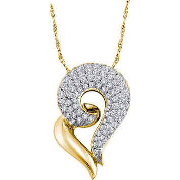 Diamond Fashion Pendant in 14k Gold 0.75 ctw