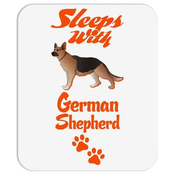 Sleeps With German Shepherd Mousepad