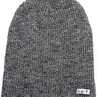 neff Men's Daily Heather Beanie Hat, Black/White, One Size