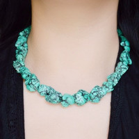 Green Nugget Necklace