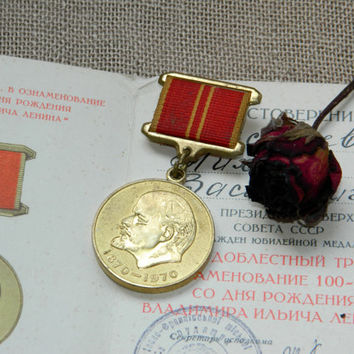 Lenin pin,Soviet vintage,Russian award,soviet medal,collectibles,ussr,Russia,Souvenir,soviet union,badge,patriotic sign,communism,history