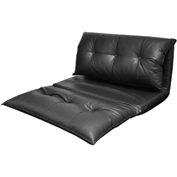 Urban Shop Tufted Faux Leather Flip Sofa - Walmart.com