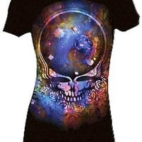 Grateful Dead – Dead Space Your Face Woman Extra Long Body Tee In Black|Thirteen Vintage