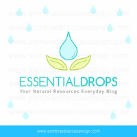 OOAK Premade Logo Design - Flower Droplet - Perfect for a natural cosmetics brand or an essential oils shop