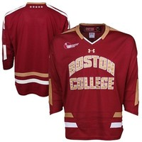 Under Armour Boston College Eagles Replica Hockey Jersey - Maroon