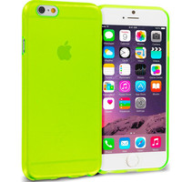 Neon Green (Transparent) TPU Rubber Skin Case Cover for Apple iPhone 6 6S (4.7)
