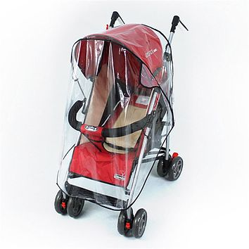 Universal Strollers Pushchairs Baby Carriage Waterproof and Durable Rain Cover Wind Shield