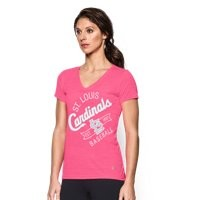 Under Armour Womens St. Louis Cardinals UA Tech V-Neck