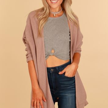 By The Fireplace Knit Cardigan Mocha