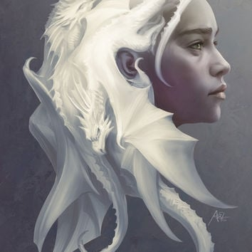 Mother of Dragons Art Print by Artgerm™