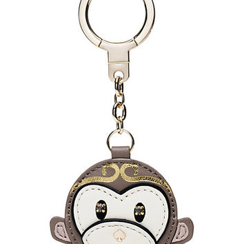 Kate Spade Monkey Keychain Neutral Multi ONE