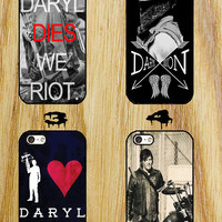 daryl dixon the walking dead iPhone 4/4S/5/5S/5C/6 Samsung Galaxy S3/S4/S5 custom case