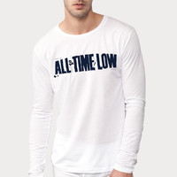 All Time Low Pop Punk Band Long Sleeved , Men Shirt, White Shirt By.Wahyu