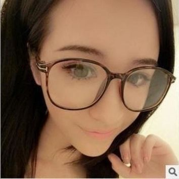 Wild Vintage Classic And Elegant Round Box Box T Metal Frame Optical Glasses Reading Glasses = 1946848068